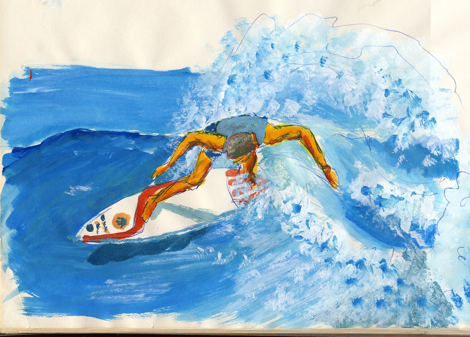 Body Surfing Birthday Cake